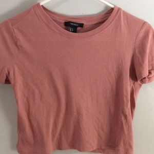 Forever 21 soft pink crop top